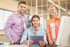 Business people using at digital tablet Royalty Free Stock Photo