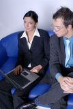 Business people using laptop Royalty Free Stock Images