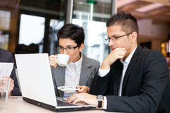 Business people using laptop Stock Photos