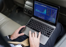 Business People Using Laptop Economic Financial Stock Images