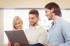 Business people using laptop Royalty Free Stock Photo