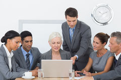 Business people using laptop Stock Photography