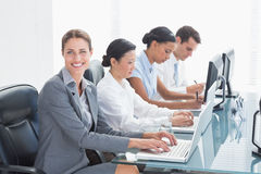 Business people using laptop Royalty Free Stock Image