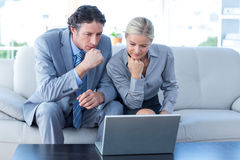 Business people using laptop Stock Photos