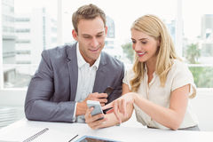 Business people using mobile phone Royalty Free Stock Images