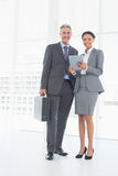 Business people using tablet computer Stock Images