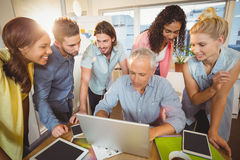 Business people using technologies Royalty Free Stock Photo