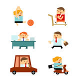 Business People in Various Activities. vector illustration