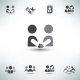 Business people vector icons Royalty Free Stock Photography