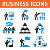 Business People Vector Icons Set Stock Photos