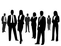 Business people. Vector illustration art Royalty Free Stock Photo