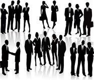 Business People - vector silhouette Stock Photography