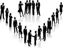 Business People - vector silhouette royalty free illustration