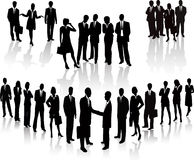 Business People - vector silhouette Royalty Free Stock Photos