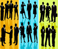 Business People - vector silhouette Royalty Free Stock Images