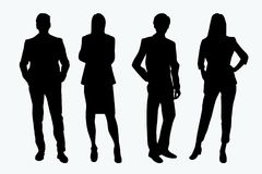 Businessman Couple Vector Silhouette Royalty Free Stock Photo