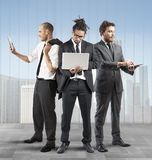 Business people very busy Stock Photography