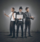 Business people very busy Stock Image