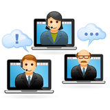 Business people video conference call Stock Photos