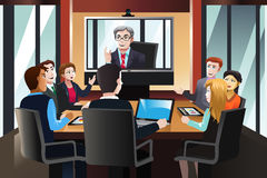 Business people on a video conference Stock Photography