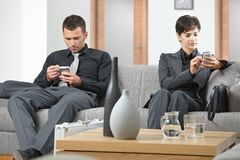 Business people waiting Royalty Free Stock Photos