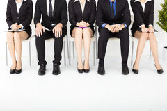 Business people waiting for interview Stock Image