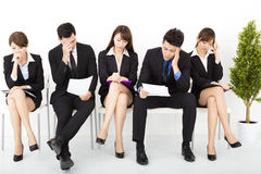 business people waiting for interview Royalty Free Stock Photos
