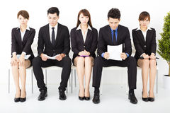 business people waiting for interview Royalty Free Stock Image
