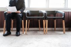Business people waiting for job interview. Business people waiting for job interview Royalty Free Stock Photography