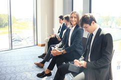 Business people waiting for the job interview. Business people waiting for the job interview Royalty Free Stock Photos