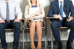 Business people waiting for job interview.  Stock Photos