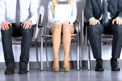 Business people waiting for job interview Royalty Free Stock Photos