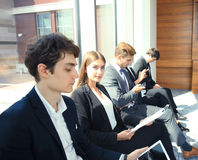 Business people waiting for the job interview. Business people waiting for the job interview Stock Photography