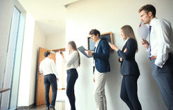 Business people waiting for the job interview. Business people waiting for the job interview Royalty Free Stock Photo