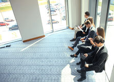 Business people waiting for the job interview. Business people waiting for the job interview Royalty Free Stock Photography
