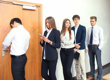 Business people waiting for the job interview. Business people waiting for the job interview Stock Images