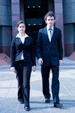 Business people walk Royalty Free Stock Photography
