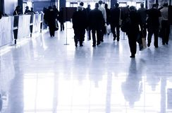 Business people walking. Specially with high contrast Stock Photos