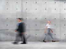Business People Walking Blurred Motion Sparse Empty Concept Stock Photography