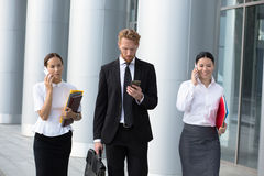 Business people walking Royalty Free Stock Image
