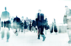 Business People Walking In a City stock photography