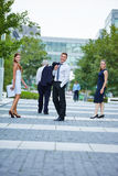Business people walking in the city Royalty Free Stock Photo