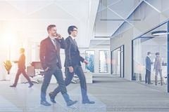 Business people in modern office royalty free illustration