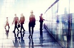 Business People Walking Commuter Conversation Concept Stock Images