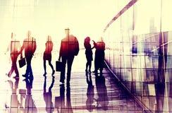 Business People Walking Commuter Conversation Concept Stock Image