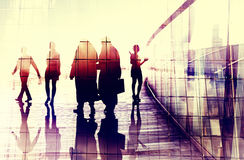 Business People Walking Commuter Conversation Concept Royalty Free Stock Images