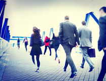 Business People Walking Commuter Corporate Travel Concept Stock Image
