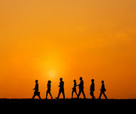 Business People Walking Commuter Outdoors Concept Royalty Free Stock Images