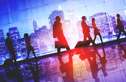 Business People Walking Commuter Rush Hour Concept Royalty Free Stock Images