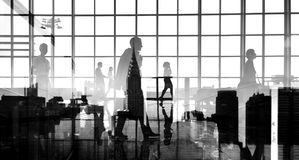 Business People Walking Commuter Rush Hour Concept Royalty Free Stock Photos